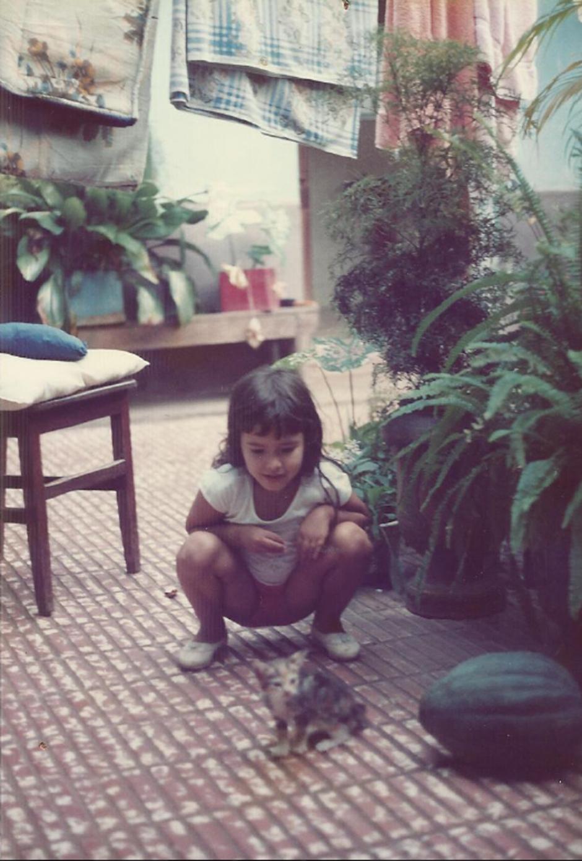 No quintal da casa da família na Bolívia | Arquivo pessoal Maíra Gamarra