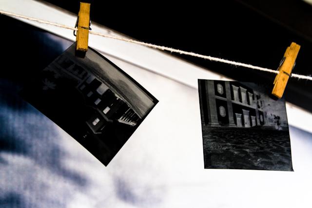 fotos dos alunos da oficina do Cidade Invertida, feitas na câmera escura móvel   Bella Valle