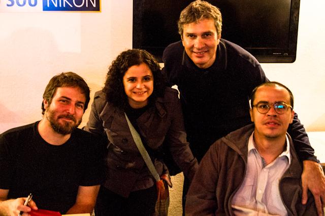 Registro afetivo do dia: Gilvan, eu, Tiago e Belém   Paloma Marques