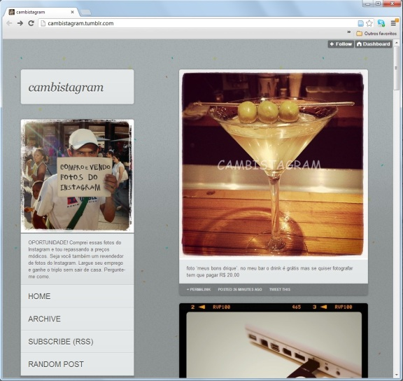 Print do Cambistagram | cambistagram.tumblr.com