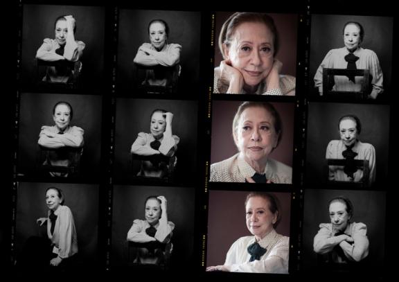 Folha de contato do ensaio com Fernanda Montenegro | Foto: Fotonauta
