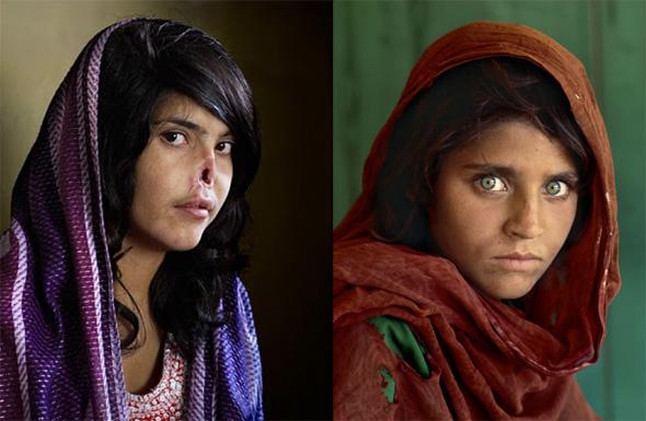 A polêmica comparação feita entre as fotografias de Jodi Bieber e Steve McCurry's