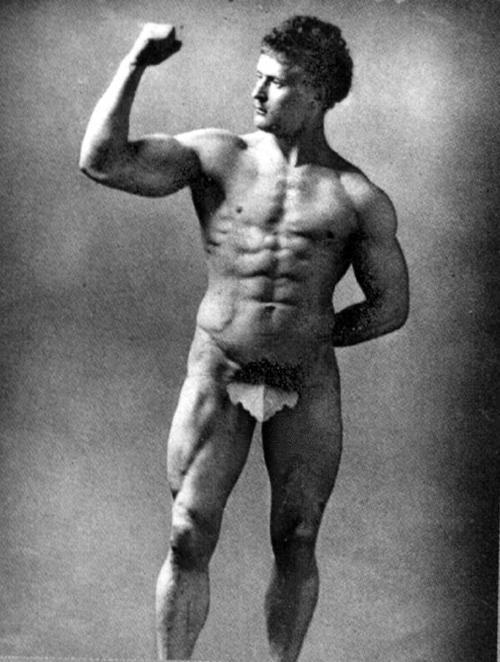 Eugene Sandow, 1889   Foto: Henry Van der Weyde