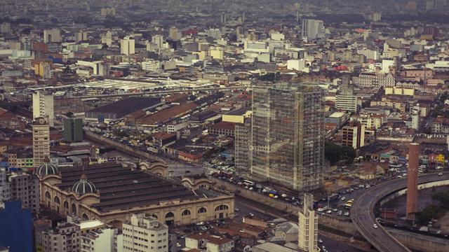 Edificio Mercurio e Sao Vito visto do Banespa. Morar 2011. | Foto Garapa