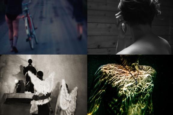 Imagens selecionadas na convocatória de 2012. Créditos no sentido horário (começando da esquerda superior): Larissa Pinho Alves | Luciana Freire | Juliana Nakatani | Mateus Sá